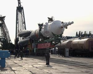 Soyuz on the cradle